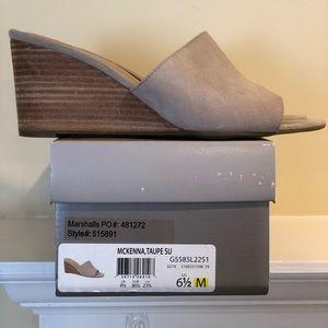 Franco Sarto Wedge Sandal. McKenna Taupe. 6.5 M